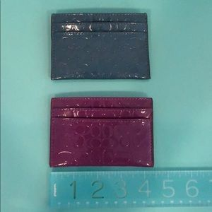 Coach Patent Leather Card Holder/Wallet